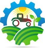 Åkerbruk logo stock illustrationer