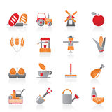 åkerbruka lantbruksymboler stock illustrationer