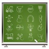 åkerbruka lantbruksymboler vektor illustrationer