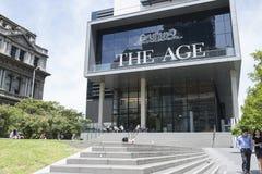 Ålderhögkvarteren (massmediahuset), Melbourne, Asutralia Fotografering för Bildbyråer