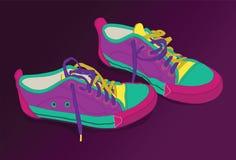 åldern colours ny tennis livlig stock illustrationer