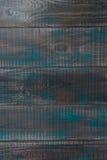 Åldrades blått wodden plankan - lodlinje Arkivfoton