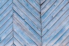 Åldrades målade spruckna bräden med blå färgskalning Gammal naturlig grunge texturerad träbakgrund Riden ut trävägg för design arkivfoton