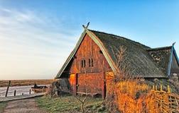 åldras huset gammala traditionella viking Royaltyfri Fotografi
