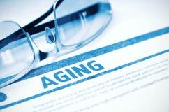 Åldras - utskrivaven diagnos MEDICINSKT begrepp illustration 3d Fotografering för Bildbyråer
