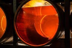 Åldras whisky med den olika färger och ängelaktien, Dublin, Ir Royaltyfri Foto