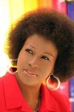 åldrig amerikansk medelkvinna för afrikan Arkivfoton