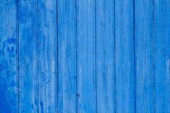 åldrig blå ridit ut trä för dörrgrunge textur Arkivfoto