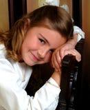 åldrig blyg flickaskola Arkivbild