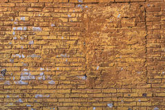 Åldrig grungetegelstenvägg Fotografering för Bildbyråer