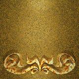 Åldrig guld- rostig prydnadbakgrund Royaltyfri Foto