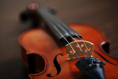 Åldrig handgjord fiol Arkivbild