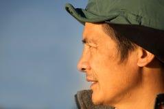 åldrig kinesisk medelutomhus- person Fotografering för Bildbyråer