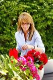 Åldrig liten blomsterhandlareägare för mitt Royaltyfria Foton
