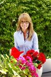 Åldrig liten blomsterhandlareägare för mitt Royaltyfri Foto
