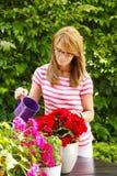 Åldrig liten blomsterhandlareägare för mitt Royaltyfri Fotografi