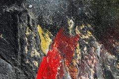 Åldrig målarfärg på för metallyttersida för grunge smutsig backgr för textur för abstrakt begrepp Royaltyfri Foto