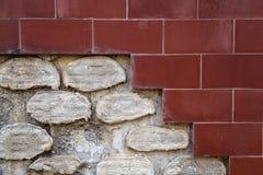 Åldrig skadad väggbakgrund Arkivfoton