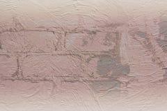 Åldrig stuckatur på tegelstenar Royaltyfri Bild