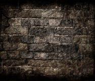 åldrig vägg för tegelstengrungetextur arkivbild