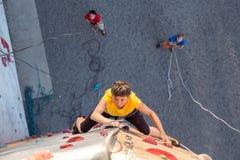 Åldriga Person Practicing Extreme Sport Royaltyfria Foton