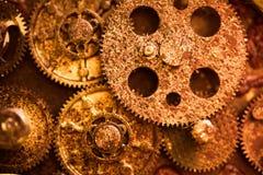 Åldriga rostiga kugghjulhjul Fotografering för Bildbyråer