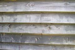 Åldriga träplankor för brunn - vägg Arkivfoto
