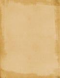åldrigt borstat papper Arkivfoton