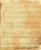 åldrigt musikark Arkivfoton