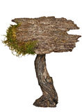 Åldrigt naturligt wood tecken Royaltyfri Bild