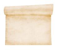 Åldrigt scrollpapper Arkivbilder