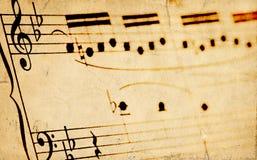 åldrigt sheetmusic Royaltyfria Bilder