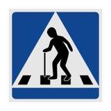 Åldring för trafiktecken övergångsställe stock illustrationer
