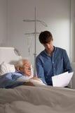 Åldring i sjukhus arkivbilder