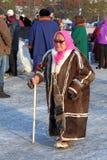 ÅldringNenets kvinna Royaltyfri Fotografi