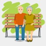 Åldringpar och sund livsstil Royaltyfri Illustrationer