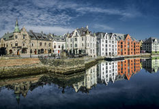 Ålesund. Art Nouveau building from Ålesund (Norway Royalty Free Stock Image