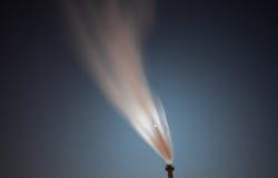 Ånga av kraftverket i himmel Royaltyfria Bilder