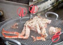 Ånga den håriga krabban Royaltyfria Bilder