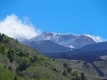 Ånga Etna, mest högväxt aktiv vulkan i Europa, Italien Royaltyfri Foto
