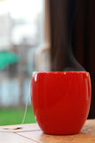 ånga för kaffekopp Arkivbilder