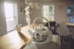 ånga för kettle Fotografering för Bildbyråer