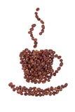 ånga för korn för datalista för kaffekopp Royaltyfri Bild