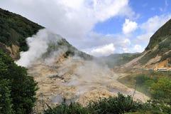 Ånga från en vulkan Arkivfoton