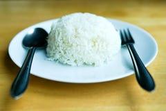 Ånga lagade mat ris Royaltyfri Fotografi