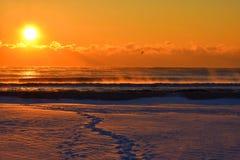 Ånga på havet Fotografering för Bildbyråer