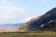 Ånga som går från kullen Royaltyfri Foto