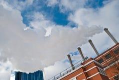 Värma och kraftverket Arkivfoto