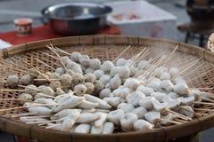 Ångad fiskboll Royaltyfri Fotografi