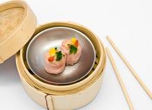 ångad kinesisk dimsum för bacon Royaltyfri Foto